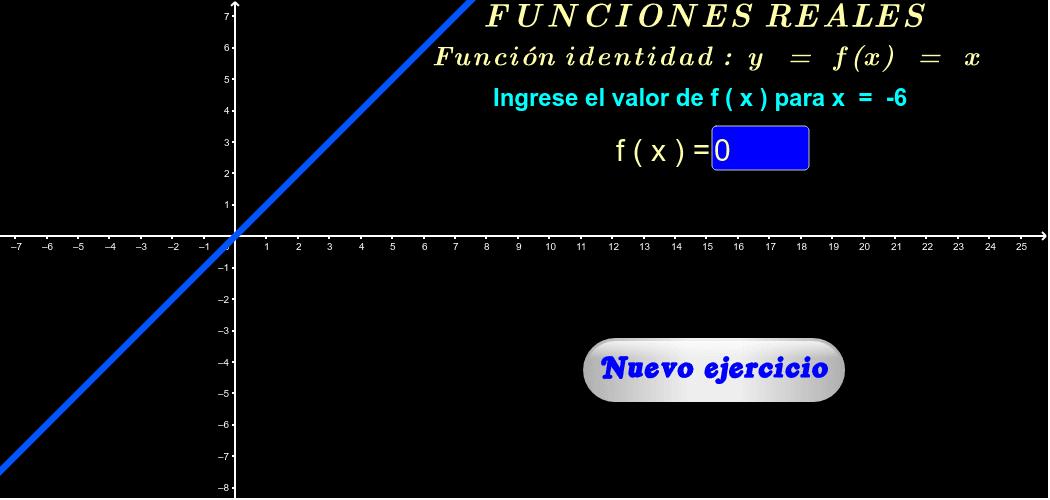 """Ingrese el valor pedido y si es correcto aparecerá: """"¡Muy bien!"""". Para ver más ejercicios, haga click en """"Nuevo ejercicio"""". El gráfico se puede desplazar y cambiar de tamaño."""