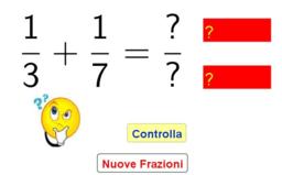 Quiz: addizionare due frazioni