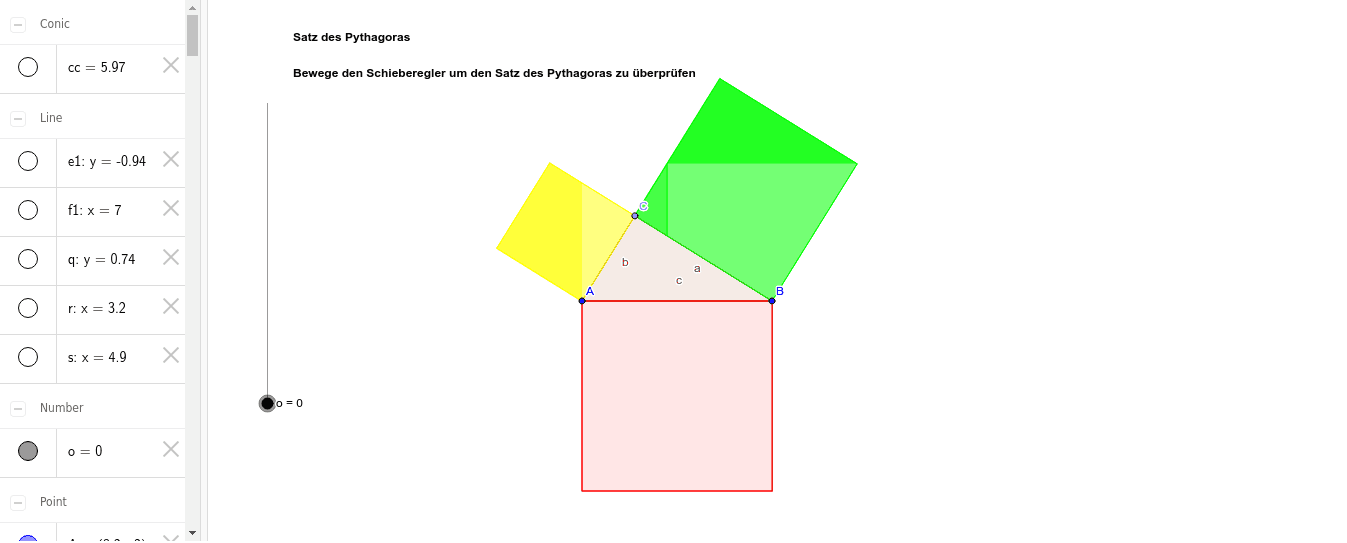 Satz des Pythagoras 3