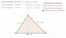 Area dei triangoli e ortocentro