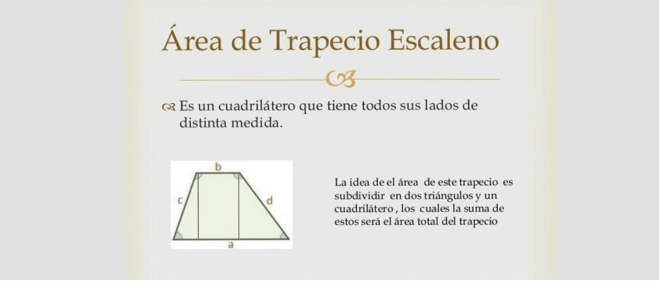 Area trapecio escaleno – GeoGebra