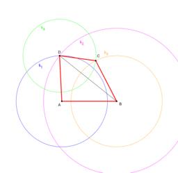 Čtyřúhelník ABCD (a, b, c, d, f)