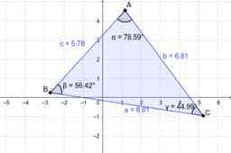 angle opposite to the longer side of a triangle is larger