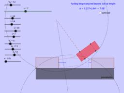 Parallel Parking optimization (US customary units)
