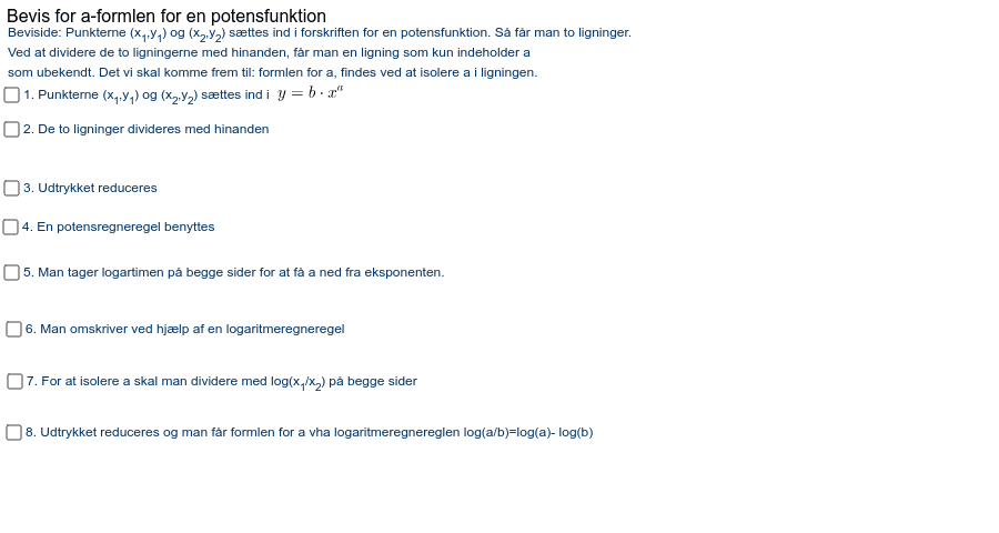GeoGebra Applet Tryk Enter for at starte aktiviteten