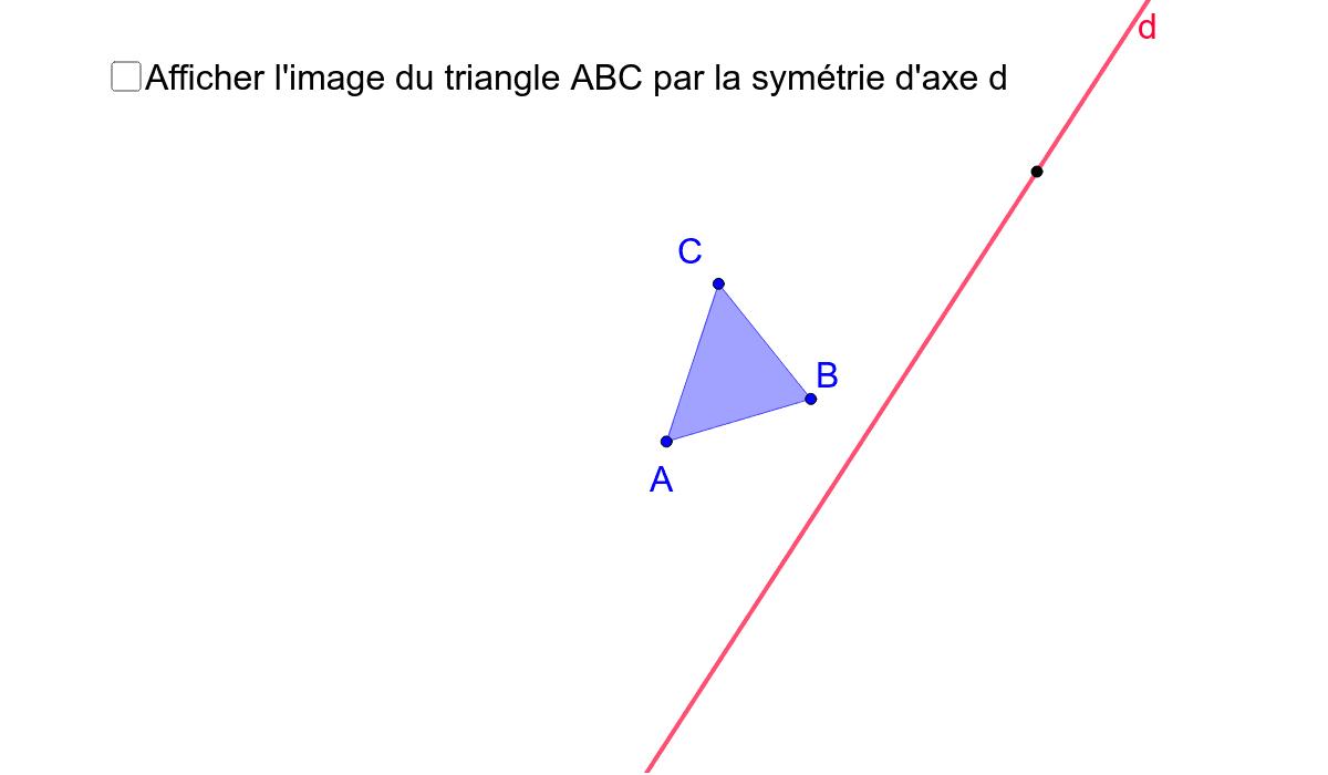 Image d'un triangle par une symétrie axiale