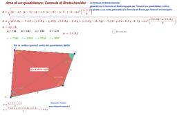 Area di un quadrilatero. Formula di Bretschneider