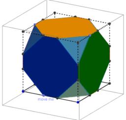 Les transformations du cube tronqué en 3D