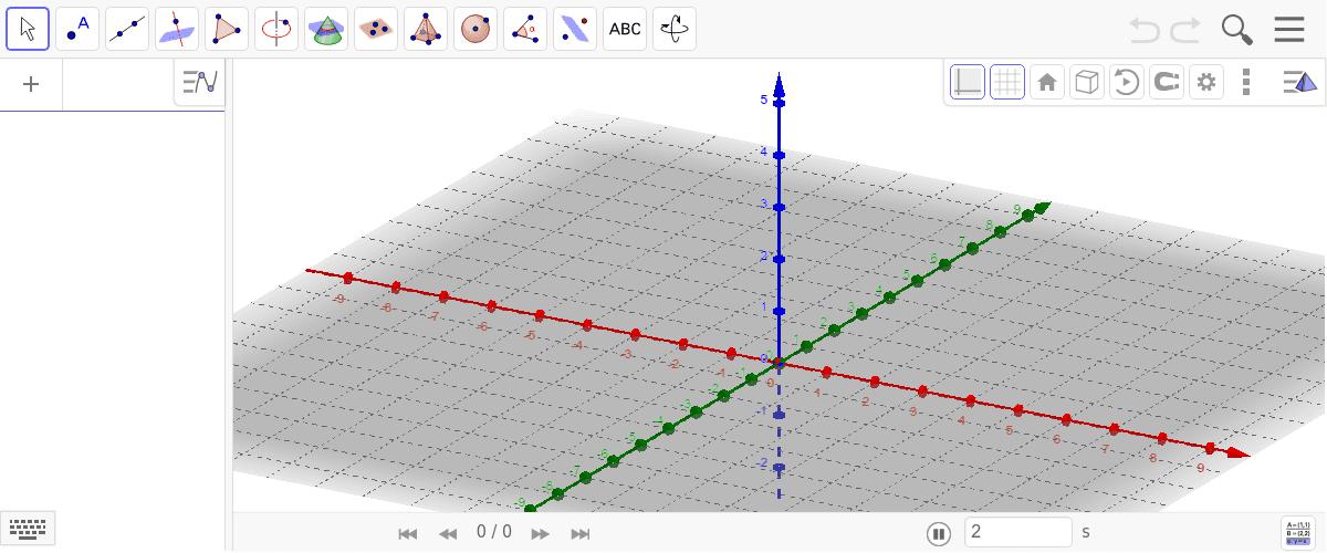 Jede der Spitzen des neuen kleinen Tetraeders berührt je einen Flächenmittelpunkt.. Drücke die Eingabetaste um die Aktivität zu starten