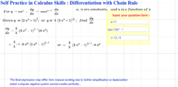 Differentiation with Chain Rule Self Practice Sheet