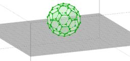 a szén C60-as fullerén molekulája