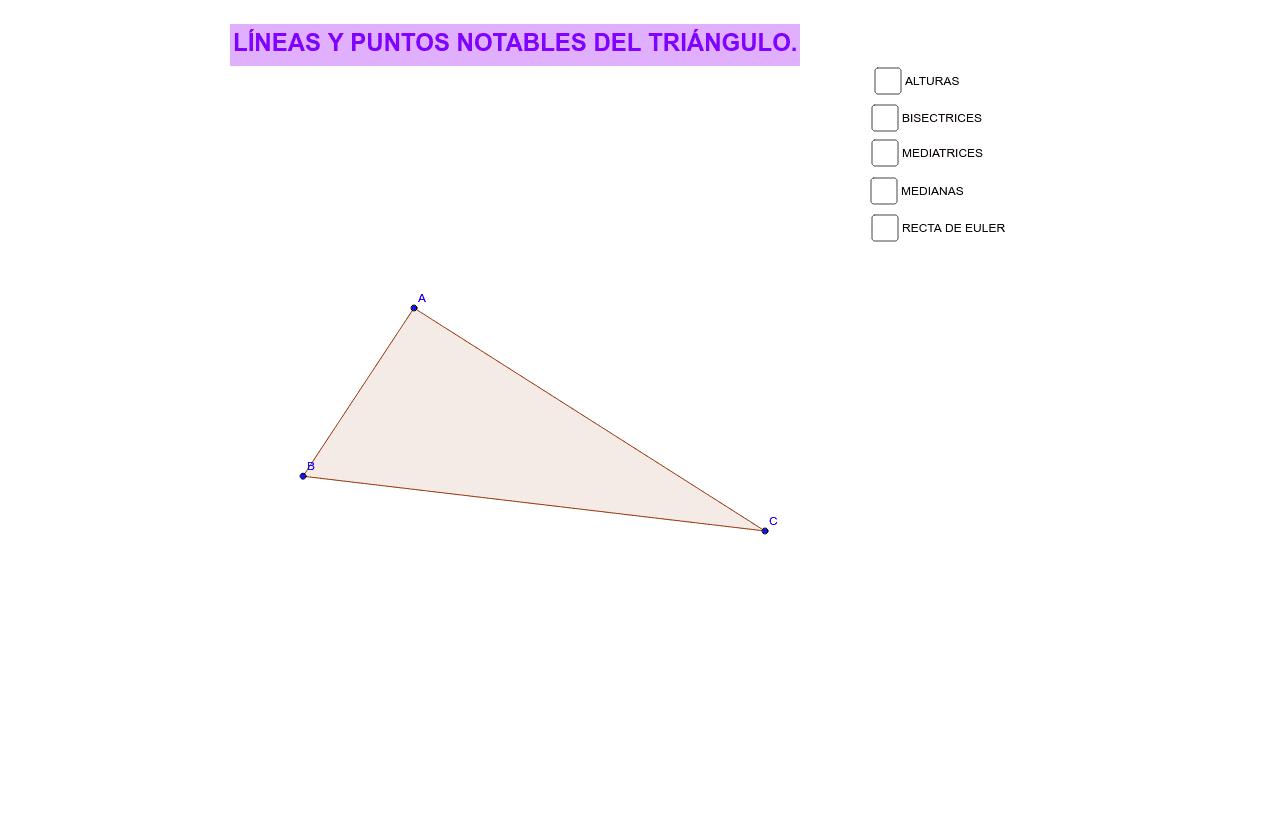 LÍNEAS Y PUNTOS NOTABLES DEL TRIÁNGULO