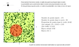 Estimation d'aire et probabilité: méthode de Monte Carlo