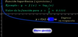 Función logarítmica base 1/3 ( ejercicios )