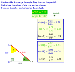 Right Angled Triangles and Complementary Angles