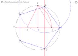 Construction de Ptolémée  du pentagone