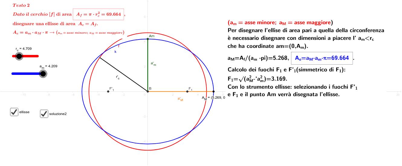 Da area ellisse a cerchio stessa area - da area cerchio ad ellisse stessa area-agg.to 5.11.2018