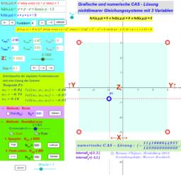 Lösung nichtlinearer Gleichungssysteme: 3 Variablen(2_3d)