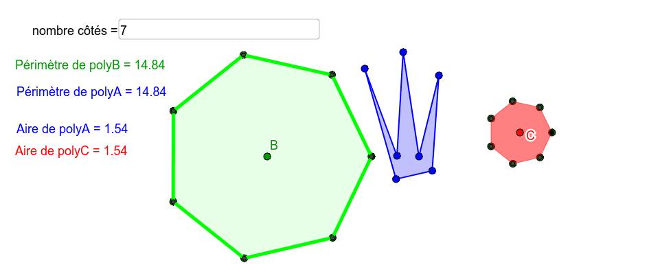 Déplacer les points bleu (move blue points)