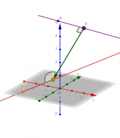 Skew lines: finding the distance (dot product)