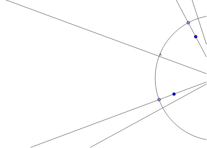 Kruh,přímky a body
