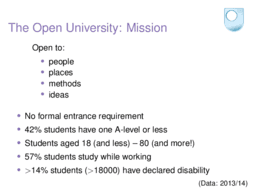 The Open University: Mission