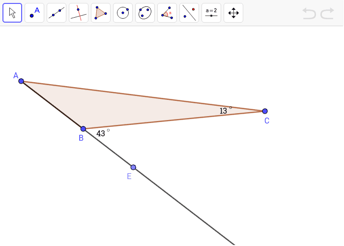 4. Find the measure of angle A.