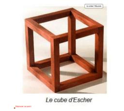 cube d'Escher ou de Penrose.