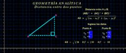 Geometría analítica ( distancia entre dos puntos 1 )