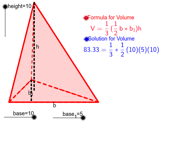 Surface Area and Volume Interactive - Triangular Prism