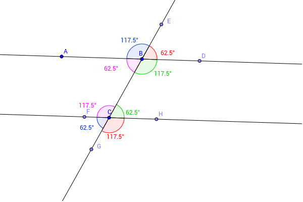 Observe The Angle Values. 2. U003cABC And U003cFCB Are Same Side Interior Anlges.  Name Another Pair Of Same Side Interior Angles. 3.