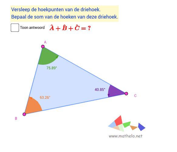 Hoekensom van een driehoek
