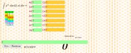Integracion por partes Método tabular 3