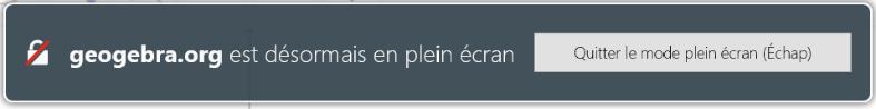 Ne pas cliquer sur le bouton, ne pas presser la touche Échap ! Ce message d'information/alerte disparait tout seul.