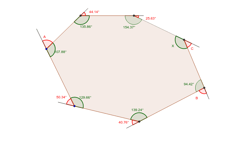 Heptagon Interior And Exterior Angles Geogebra