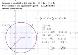 Koordináta - körbe négyzet