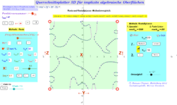 Querschnittsplotter implizite algebraische 3D Flächen Java