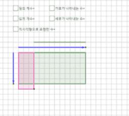 직사각형으로 표현한 수 2
