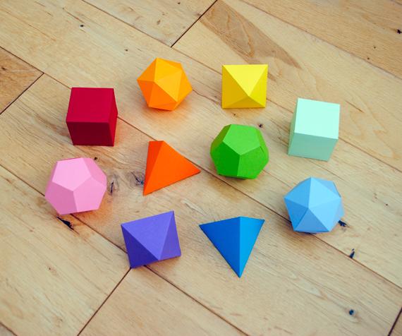 Estas figuras están formadas por poligonos
