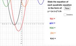 Quadratics - Completed Square Form