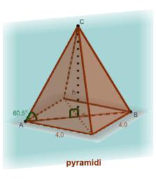 Pyramidin korkeuden laskeminen