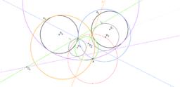 Příklad 2: Apolloniova úloha Bod, kružnice, kružnice