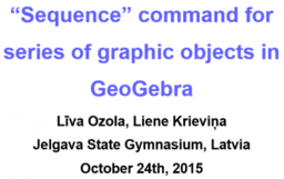"""""""Sequence"""" command for series of graphic objects in GeoGebra"""