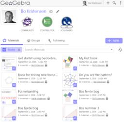 Get startet using GeoGebraBooks /n7f5