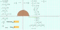 Centro de masa  y semicírculo