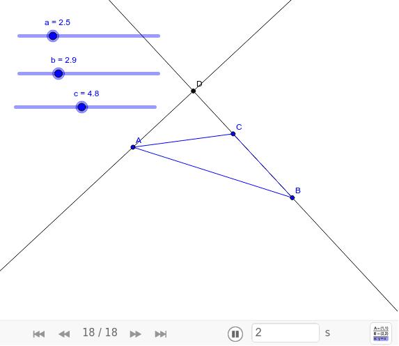 TEOREMA 47.Se as medidas dos três lados de um triângulo são conhecidas, então as medidas de seus três ângulos também podem ser determinadas.