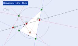 Simson's Line Thm