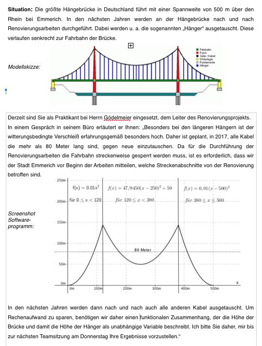 Lernsituation zu Umkehrfunktionen (11. Klasse FOS BOS)