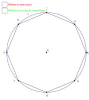 Octogone régulier inscrit dans un cercle