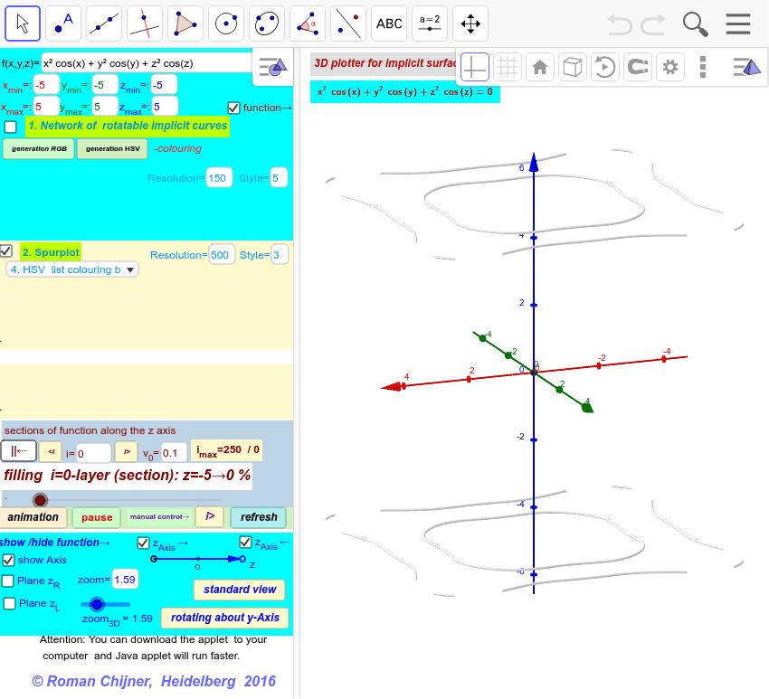 3D- Implicit surface grapher